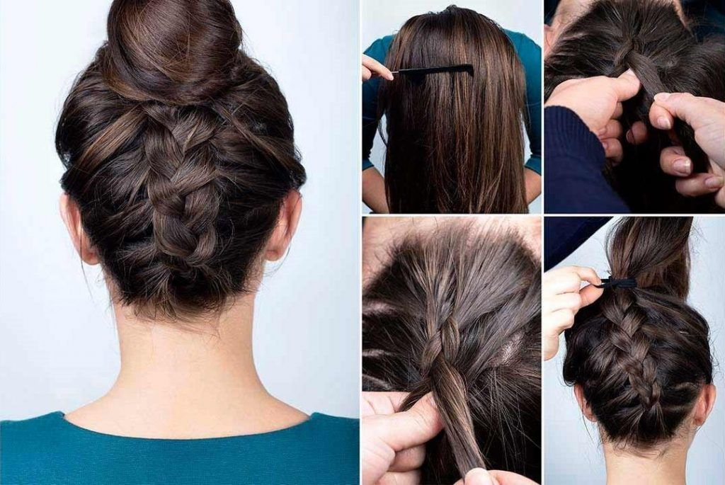 bun dutch braid