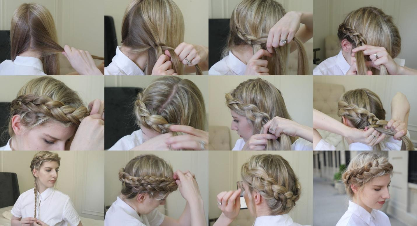 how to dutch braid crown