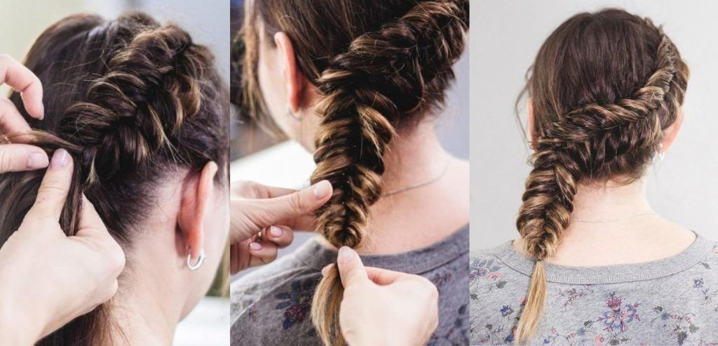 side dutch braid fishtail