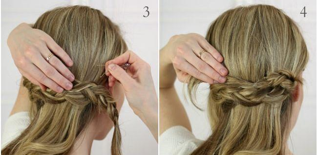updo dutch braid