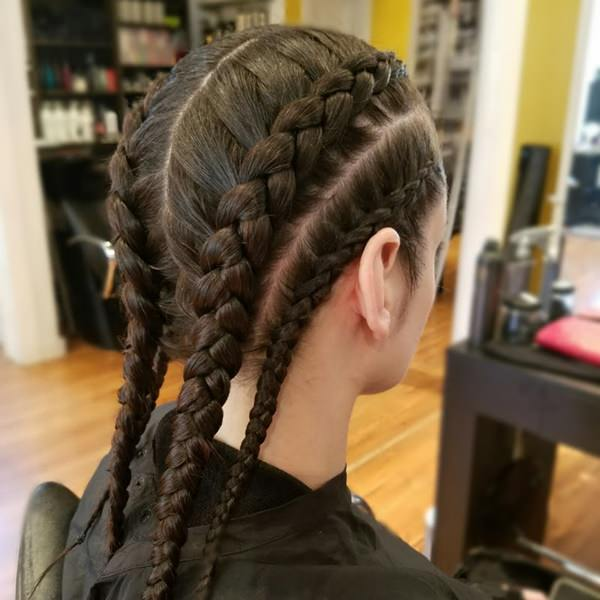 four dutch braid