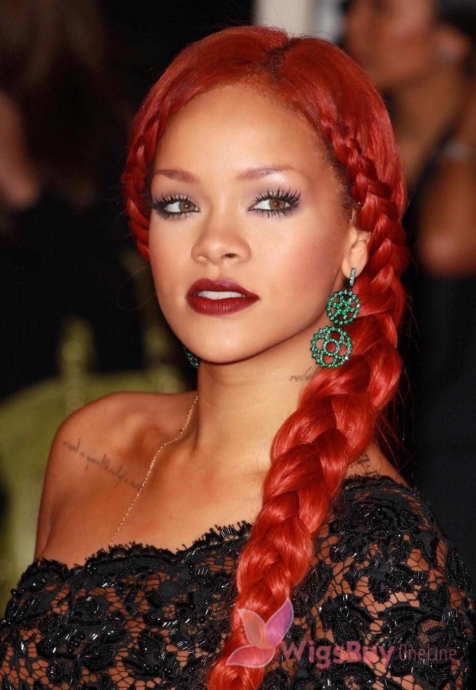 rihanna dutch braid