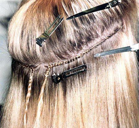 sews-in hair extensions