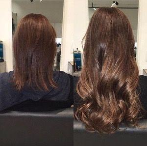 tape in hair extensions before and after 2
