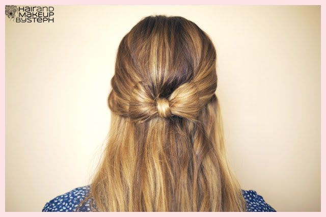 tie bow hairstyle