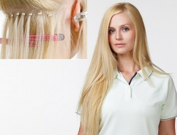 Micro beads hair extensions